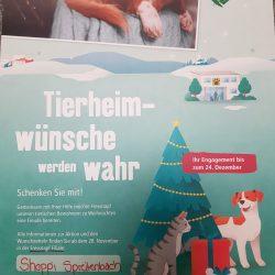 Fressnapf Weihnachtsaktion zu Gunsten der Tierheimtiere
